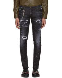 DSquared² - Black Regular Clement Jeans - Lyst