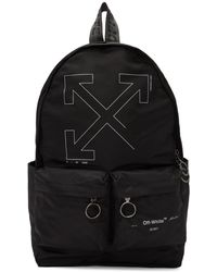 Off-White c/o Virgil Abloh - Black Unfinished Backpack - Lyst