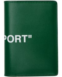 Off-White c/o Virgil Abloh - Green Quote Passport Holder - Lyst