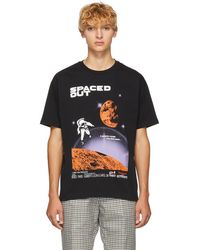 KENZO - Black Spaced Out T-shirt - Lyst