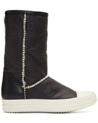Rick Owens - Black Shearling Boots - Lyst