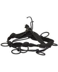 Ann Demeulemeester | Black Ribbon And Rings Bracelet | Lyst