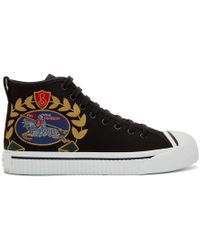 Burberry - Black Kingly Big C High-top Trainers - Lyst