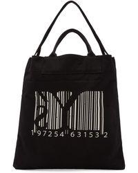 Y's Yohji Yamamoto - Black Barcode Print Tote - Lyst