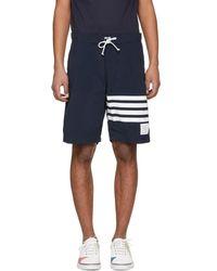 Thom Browne - Navy Four Bar Board Shorts - Lyst