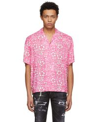 DSquared² - Pink Short Sleeve Hibiscus Box Out Shirt - Lyst