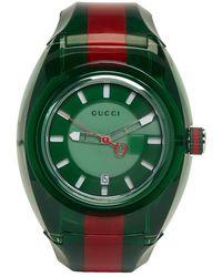 Gucci - Sync Web-striped Watch - Lyst
