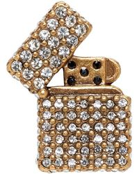 Marc Jacobs - Gold Strass Lighter Pin - Lyst