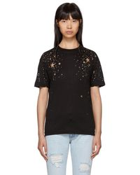 Stella McCartney - Black Cut-out Stars T-shirt - Lyst