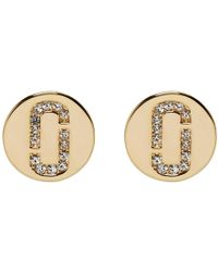 Marc Jacobs - Gold Double J Stud Earrings - Lyst