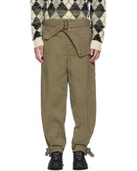 JW Anderson - Khaki Dyed Army Trousers - Lyst