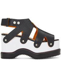 Proenza Schouler - Two-Tone Leather Flatform Sandals - Lyst
