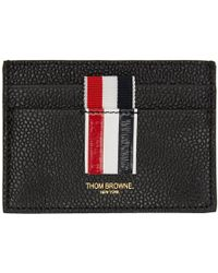 Thom Browne - Black Stripe Single Card Holder - Lyst