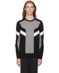 Neil Barrett - Black And Grey Modernist Jumper - Lyst