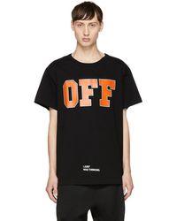 Off-White c/o Virgil Abloh - Black 'off' T-shirt - Lyst