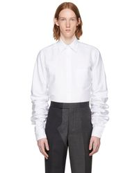 Thom Browne - White Extra Long Sleeves Shirt - Lyst
