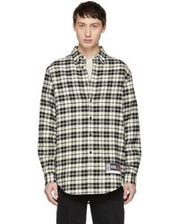 Alexander Wang - Black And Off-white Player Id Shirt - Lyst