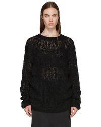 Ann Demeulemeester - Black Loose Stitch Knit Sweater - Lyst