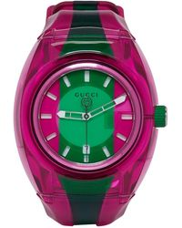 Gucci - Pink And Green G-sync Watch - Lyst