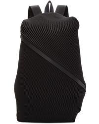 Pleats Please Issey Miyake - Black June Bias Pleats Backpack - Lyst
