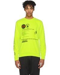 McQ - Yellow Acid House Clean Sweatshirt - Lyst