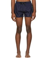 DIESEL - Navy Bmbx-sandy Swim Shorts - Lyst