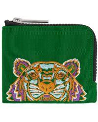 KENZO - Green Tiger Zip Around Wallet - Lyst