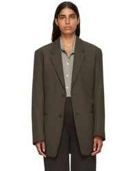 Lemaire - Brown Single-breasted Jacket - Lyst