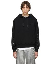 777ff033 Off-White c/o Virgil Abloh Diag Bernini Long Sleeve T-shirt With Hoodie in  Red for Men - Lyst