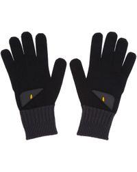 Fendi   Black And Grey Bag Bugs Gloves   Lyst