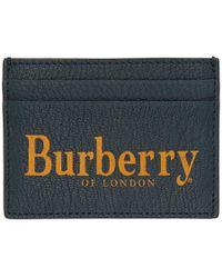 Burberry - Blue Logo Sandon Card Holder - Lyst