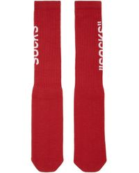 Off-White c/o Virgil Abloh - Red Quote Socks - Lyst