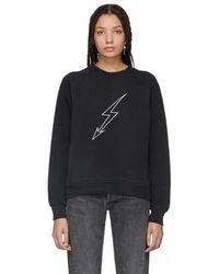Givenchy - Black Lightning Sweatshirt - Lyst