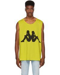 Faith Connexion - Yellow Kappa Edition Sleeveless T-shirt - Lyst