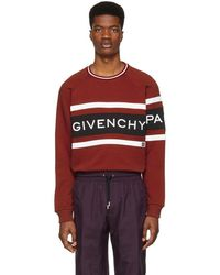 Givenchy - Red Panelled Logo Sweatshirt - Lyst