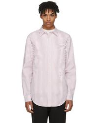 Alexander Wang - White And Red Pinstripe Ny Post Made You Look Shirt - Lyst