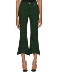 Alexander McQueen - Green Kickback Trousers - Lyst