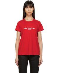 Givenchy - Logo Print Regular Fit Cotton T Shirt - Lyst
