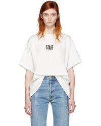 Vetements - White Hanes Edition Quick Made Oversized 'staff' T-shirt - Lyst