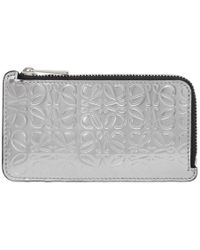 Loewe - Silver Coin Card Holder - Lyst