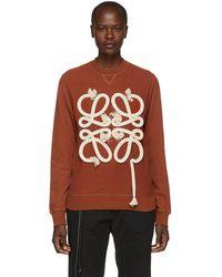 Loewe - Orange Rope Anagram Sweatshirt - Lyst