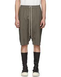 Rick Owens - Short taupe Pods - Lyst