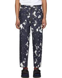 3.1 Phillip Lim - Indigo Paint Splatter Jeans - Lyst