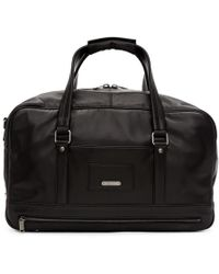 Saint Laurent - Black Leather Id Duffle Bag - Lyst