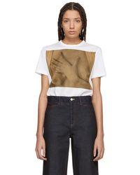Rosetta Getty - White Georgia Okeefe T-shirt - Lyst