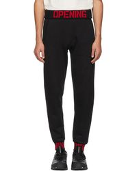 Opening Ceremony - Black Elastic Logo Fitted Lounge Trousers - Lyst
