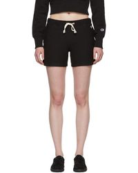 Champion - Black Small Logo Shorts - Lyst