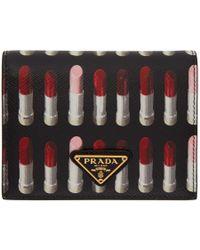 Prada - Saffiano Leather Lipstick Wallet - Lyst