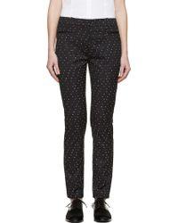 Erdem - Black & White Stitched Dot Lenke Trousers - Lyst