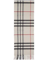 Burberry - Off-white Cashmere Giant Icon Scarf - Lyst